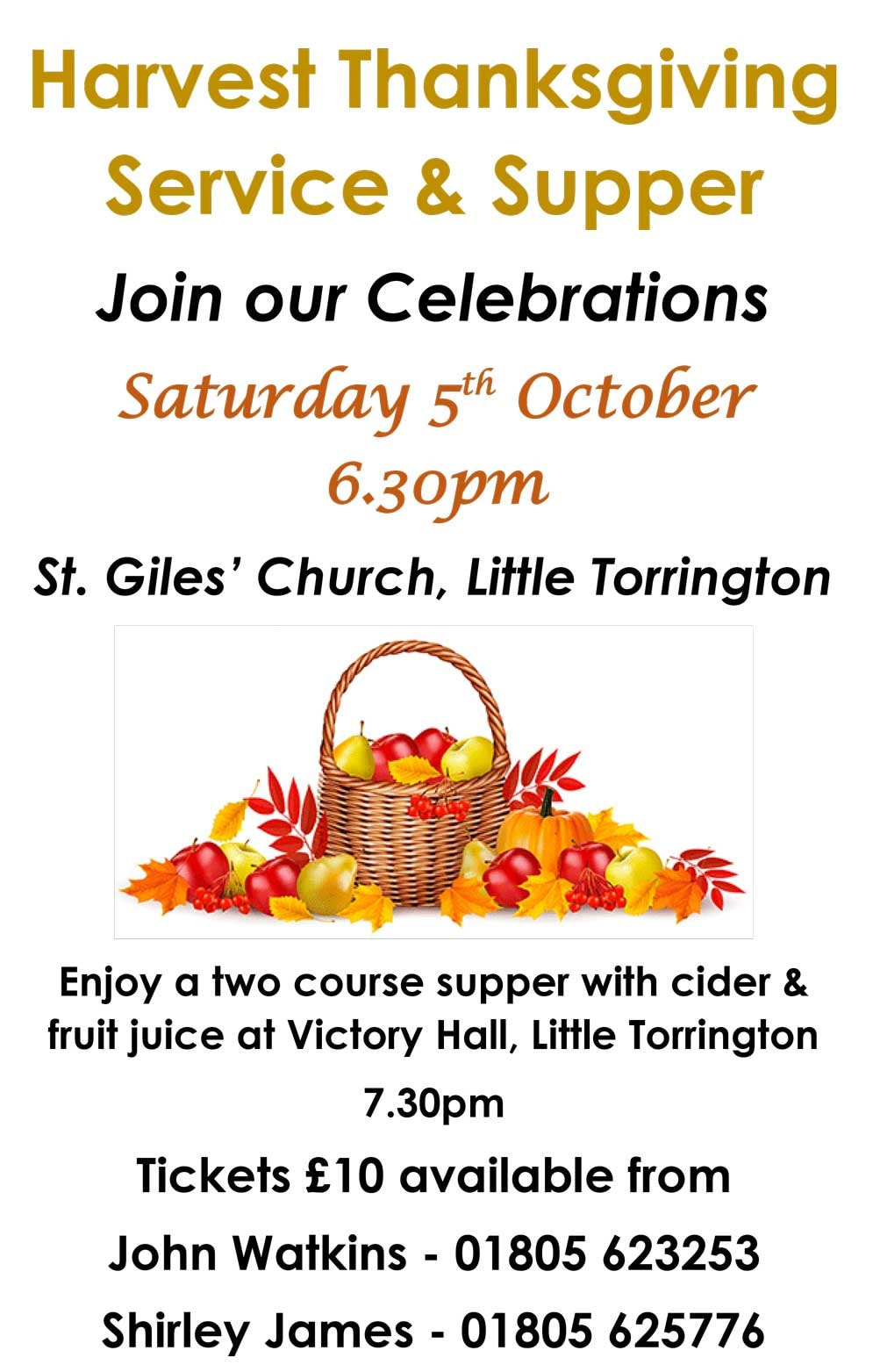 Little Torrington Harvest Thanksgiving poster
